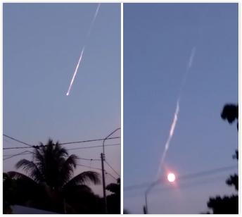 天降陨石?秘鲁天空突现三颗火球飞速坠地