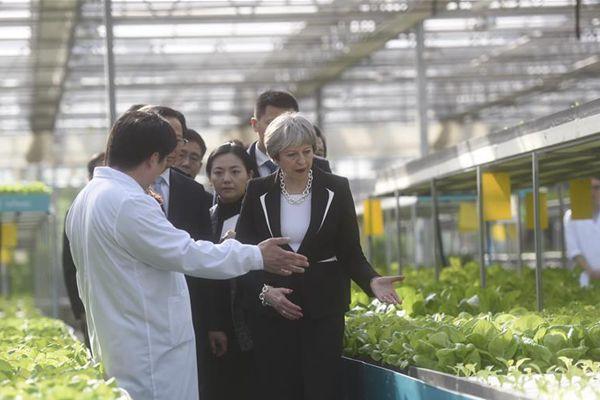 特雷莎·梅参在京参观国家农业科技展示园
