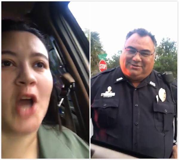 美女子被警察命令靠边停车 原来是父亲恶作剧
