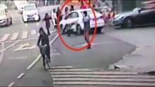 司机逆行被查 为躲避处罚撞交警