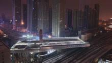 8800吨钢箱梁空中转体81度 常青高架全线贯通
