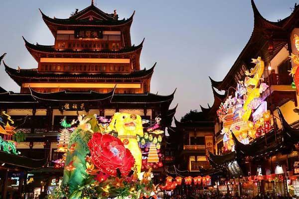 2018年豫园新春民俗艺术灯会开幕