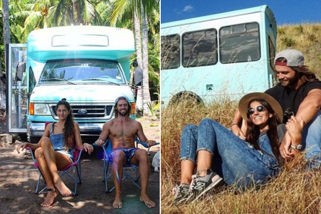 新婚夫妇改造旧校车开启横跨美洲蜜月之旅