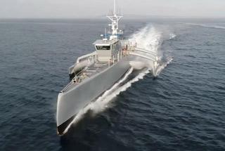"""美国一款""""星际战舰""""秘密海试 专门对付潜艇"""