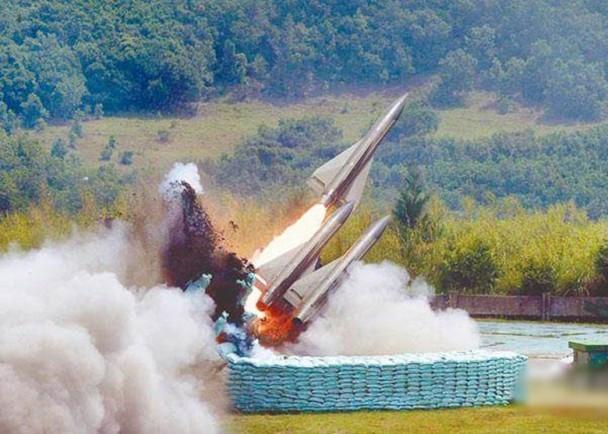 """台军调""""老""""导弹对抗""""共军绕台"""" 去年试射曾爆炸"""