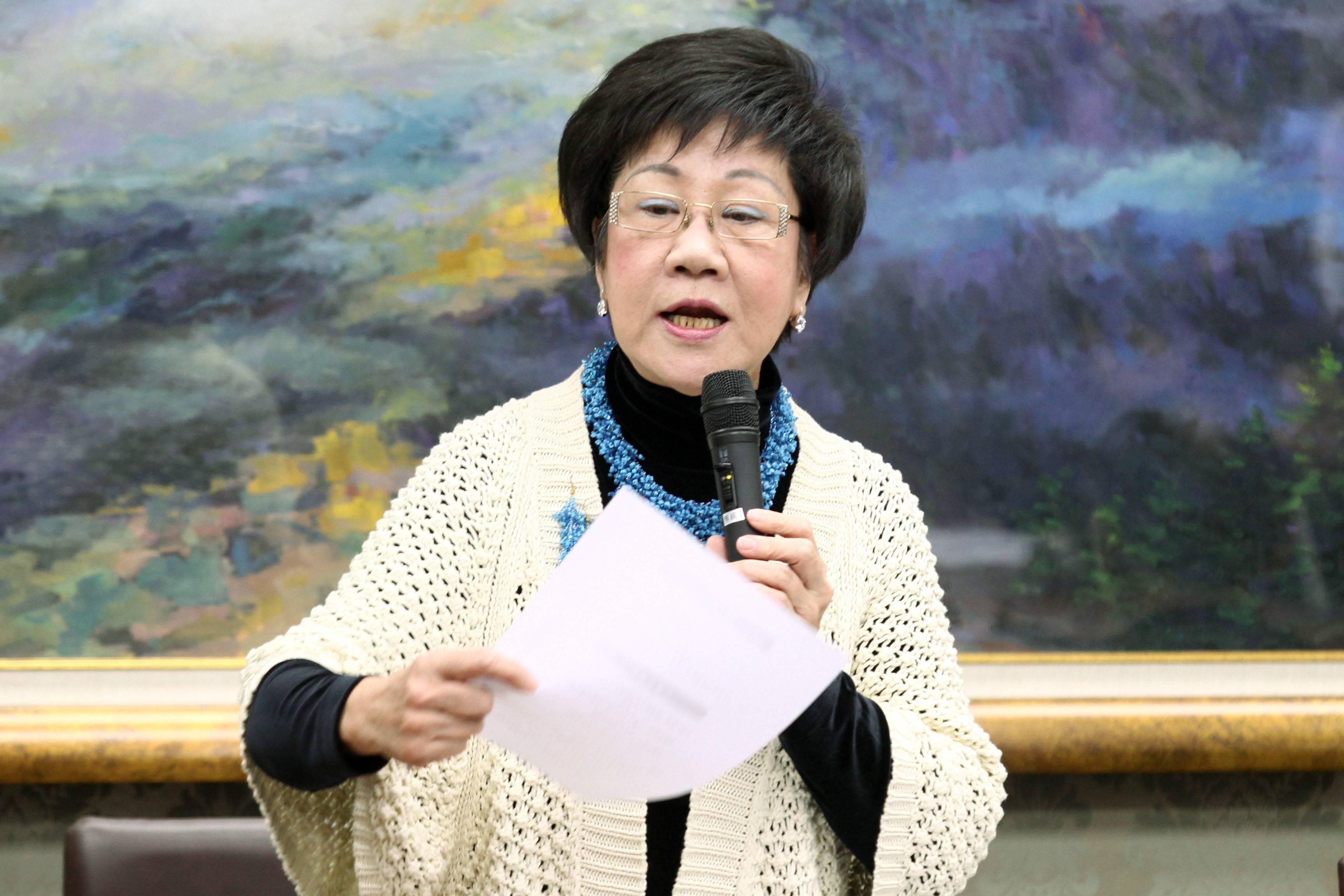 """谈台北市长选举 吕秀莲自称""""绝对有胜算"""""""
