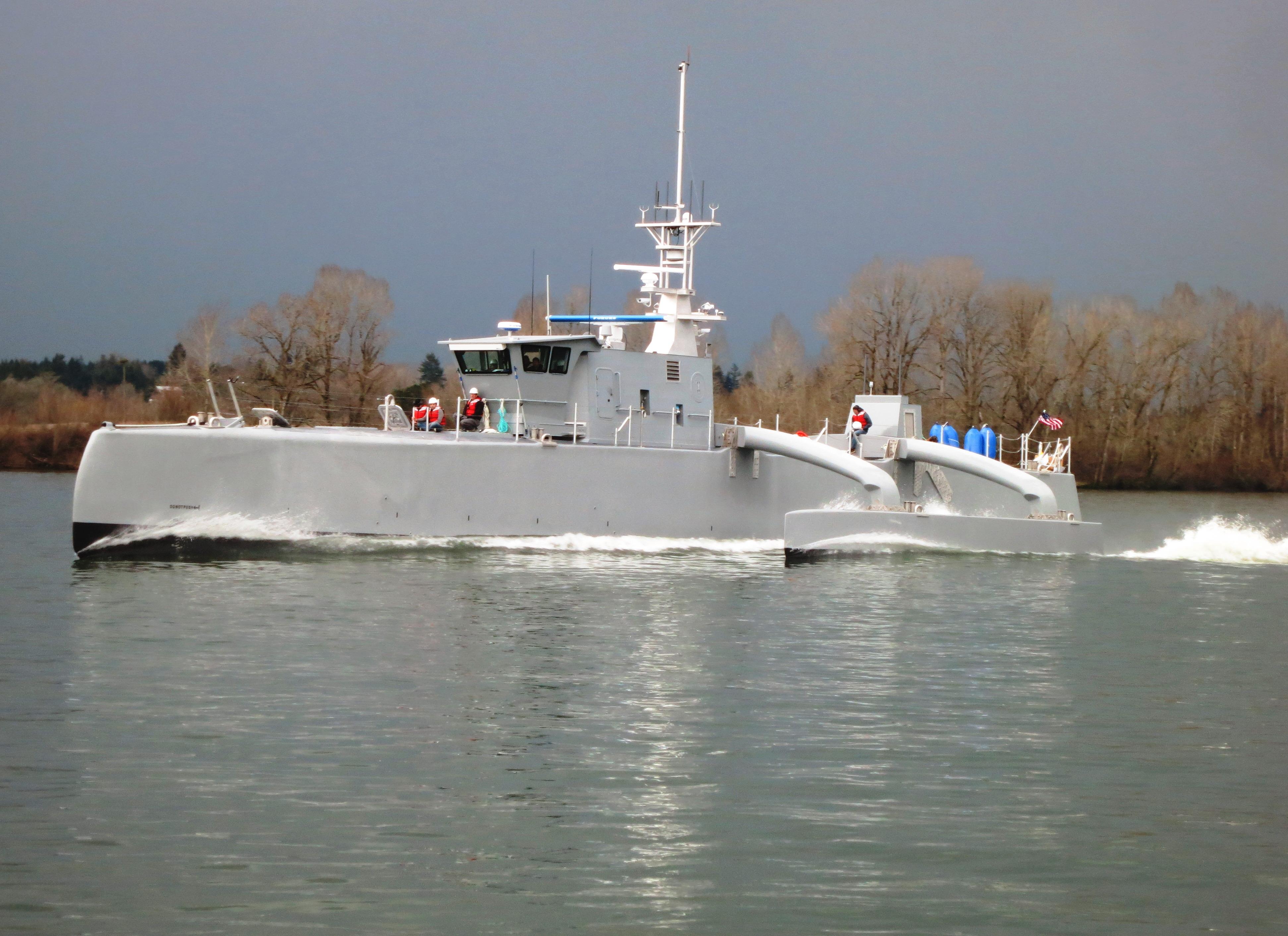 """DARPA将""""海上猎人""""技术验证船原型移交美海军"""