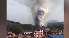 江西一烟花爆竹厂突然起火爆炸  原因尚不明确
