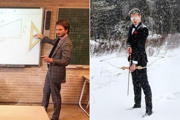 别人家的老师!荷兰数学老师热爱户外运动成网红