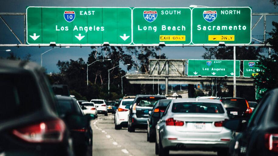 洛杉矶连年摘得世界最糟糕城市交通金酸梅