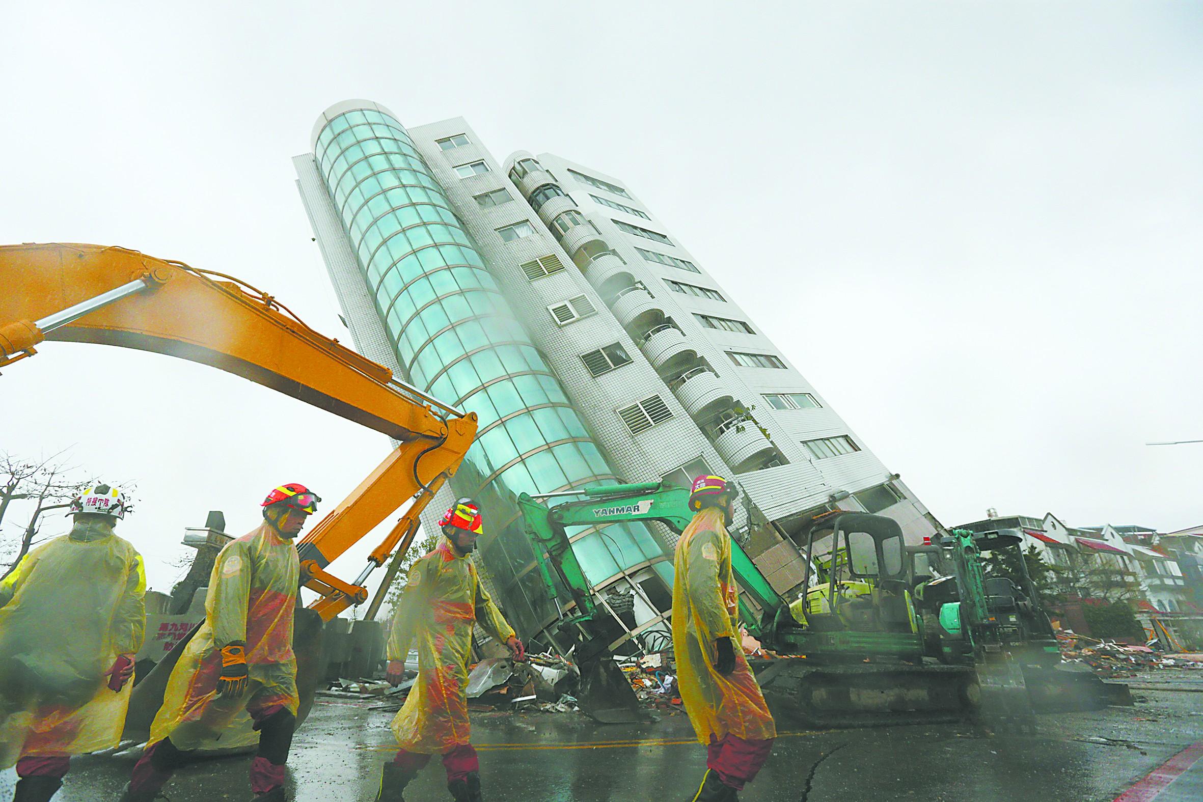 台湾花莲强震 大陆愿提供救灾协助