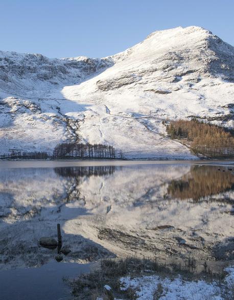 冬季平行世界 英国巴特米尔湖冬日风光