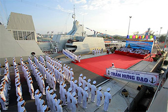 越南大张旗鼓庆祝2艘俄制隐形护卫舰服役