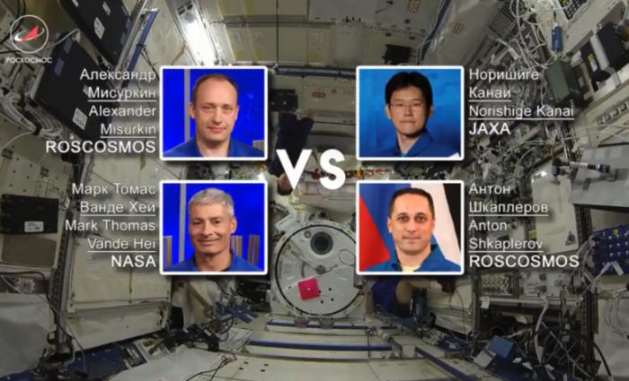 太空也能玩!俄日美宇航员在空间站举行羽毛球赛