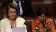 美国少数党领袖连续演讲八小时 台下众议员悄悄打瞌睡