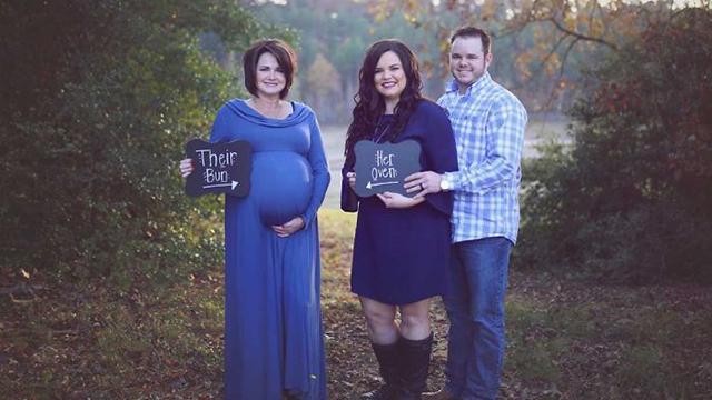 美国50岁母亲替子女代孕 剖腹产生下健康宝宝