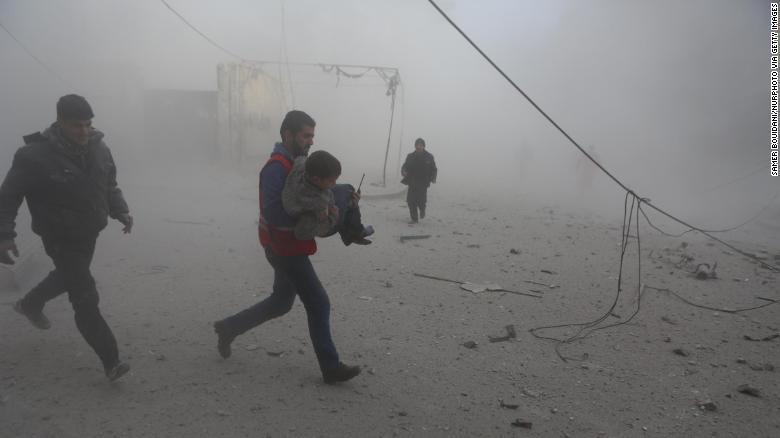 叙利亚空袭4天超200平民死亡 系4年来最糟情况