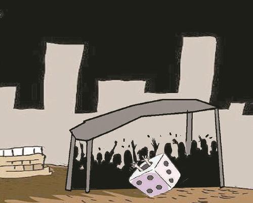 """建筑工地藏""""地下赌场"""":40人在不足10平米工棚赌博"""