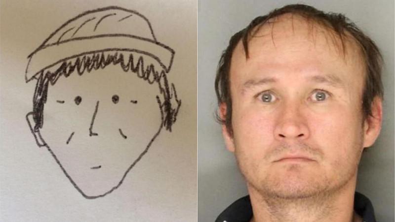 美国警察用这张卡通素描确定嫌犯 网友:服了!(图)