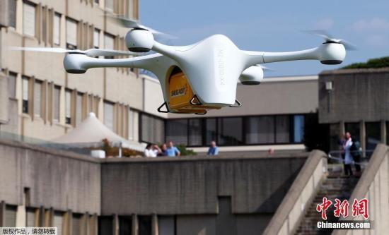 快递满天飞 空客的无人机在新加坡成功送包裹