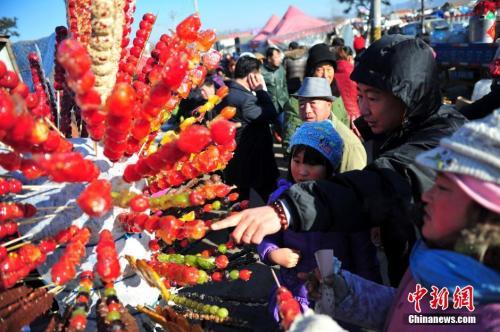 家在辽宁沈阳的李晓,春节期间最喜欢和家人逛市集。资料图为沈阳市民置办年货。<a target='_blank' href='http://www.chinanews.com/'>中新社</a>发 于海洋 摄