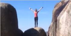 世界上最难征服的石头:悬在1000米绝壁中间