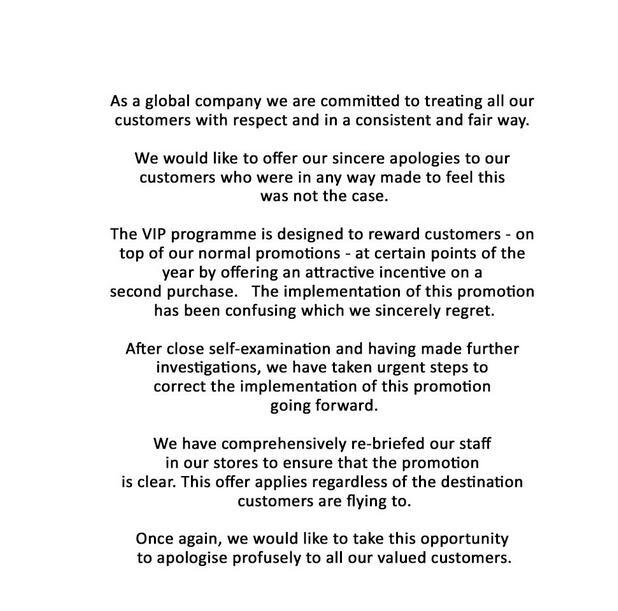 伦敦希思罗机场发表致歉声明:对中国民众表达万分歉意