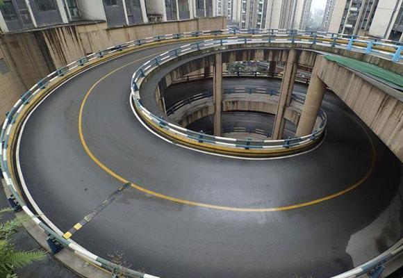 重庆现旋转公路 回家先转4圈