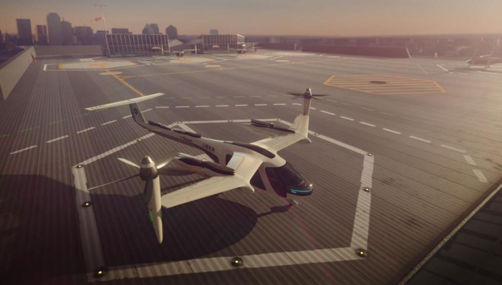 揭开Uber飞行汽车神秘面纱:直升机和飞机混合体