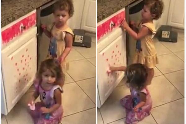 美房东欲出售房子 两小女儿厨房涂鸦添乱