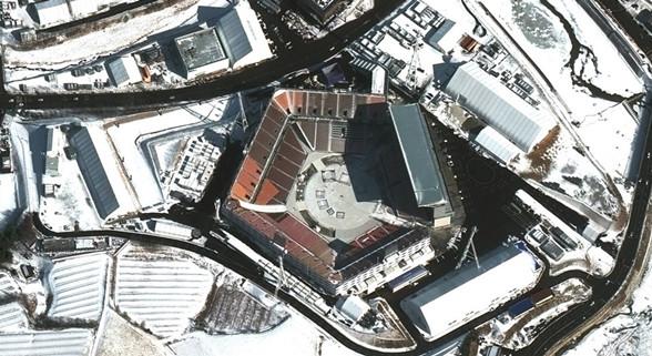 透过卫星看韩国冬奥会场馆
