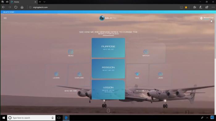 微软携维珍银河推WebVR网站:激发探索太空激情