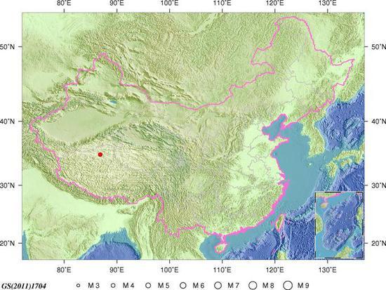 澳门游艺场:西藏那曲地区尼玛发生4.2级地震_震源深度44千米