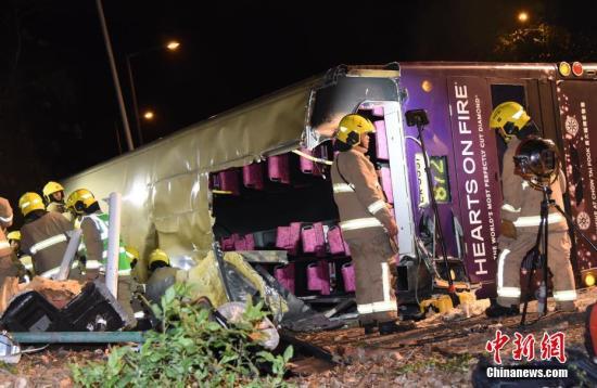 香港大埔公路车祸仍有31人留院 5人危急5人严重
