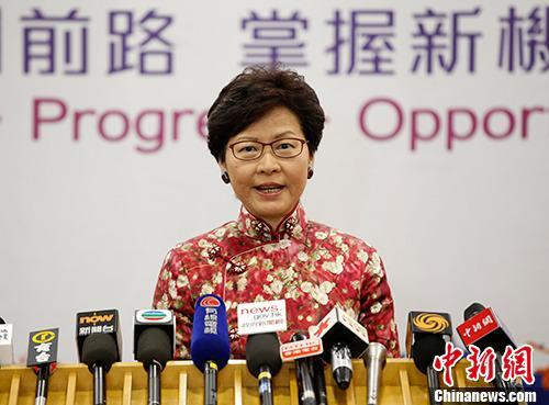 香港特首发表农历新年贺辞 祝香港社会百业兴旺再创辉煌