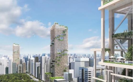 花费59亿美元 世界最高木制摩天大楼2041年将建成