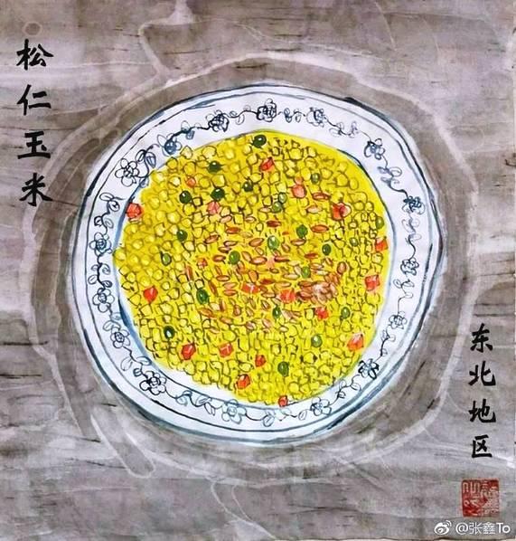 沈阳大学生手绘年夜饭!看看哪道菜你最爱吃!