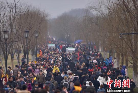 杭州西湖景区火爆停车难 警方:建议公交出行