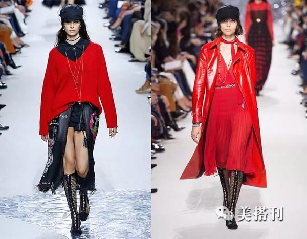 新春着一袭红色裙装,既要青春洋溢还要成熟妩媚