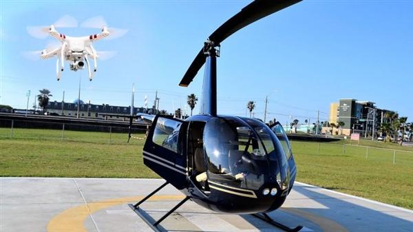 无人机闯祸了 世界首例无人机致直升机坠毁事件