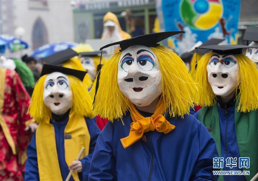 瑞士巴塞尔狂欢节举行盛装游行 为期3天的巴塞尔狂欢节正式拉开帷幕
