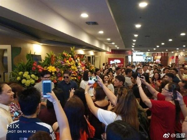 菲律宾第一家小米授权店开业:场面火爆!