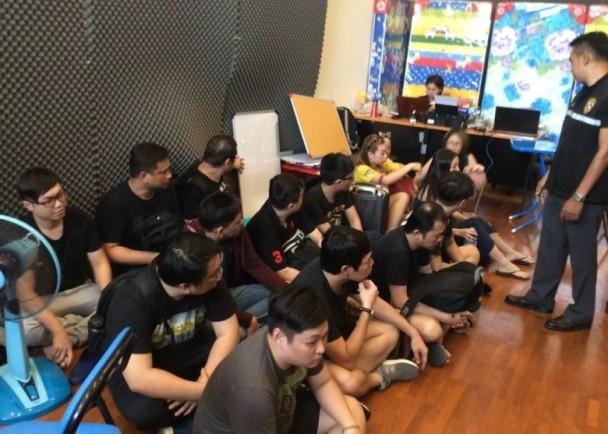 泰国柬埔寨警方联手破获电信诈骗集团 包括6名台湾嫌犯共37人落网