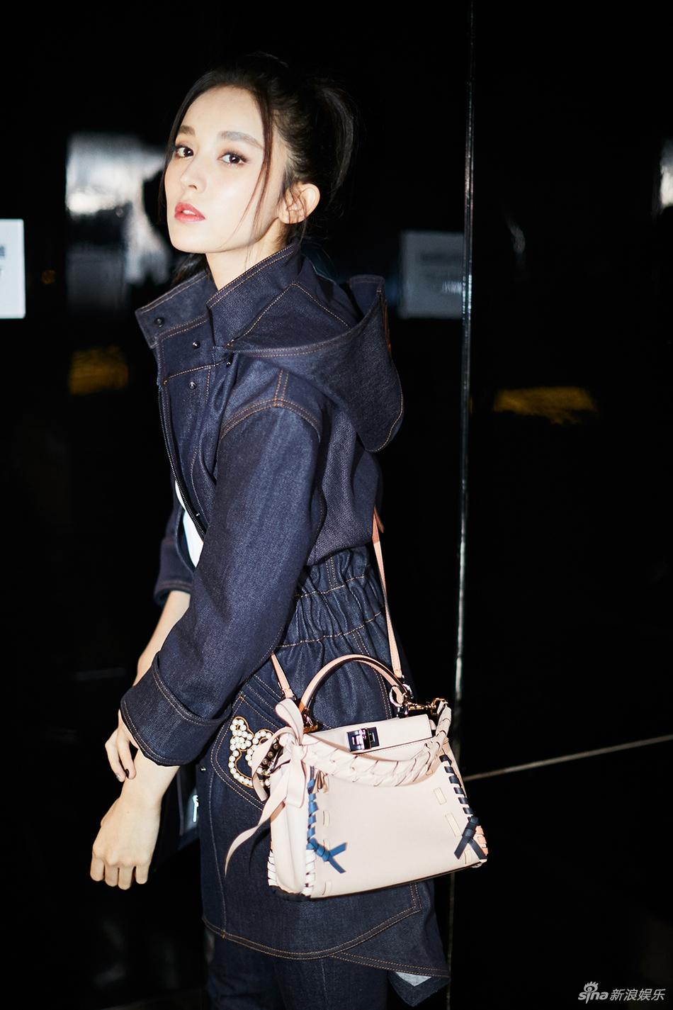 娜扎米兰时装周再出发 率性造型尽显大长腿