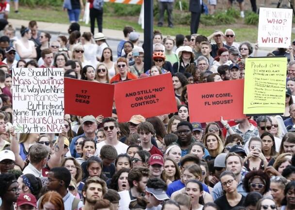 """""""没有下次""""行动遍地开花 美学生游行促管枪"""