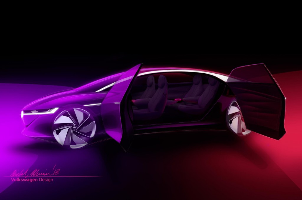 大众全新概念车I.D. Vizzion将在日内瓦车展亮相