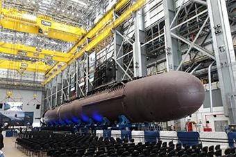 巴西钻山洞潜艇模块组装开始
