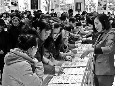 今年春节黄金销售上升 菜百黄金六天卖了1.8亿元