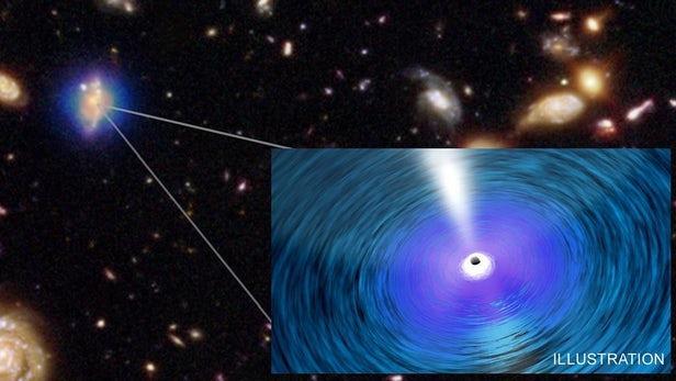 """""""超大质量""""黑洞可能是迄今为止发现的最大天体"""