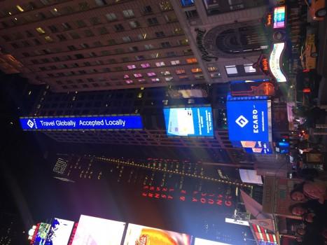 ECARD Inc.霸屏亮相纽约时代广场